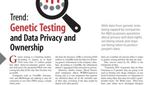 Trend: Genetic Testing and Data Privacy Ownership