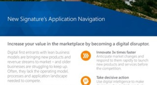 Application Navigation Flyer 2018