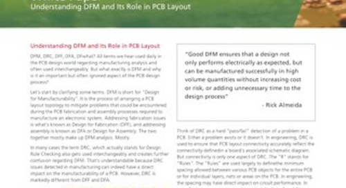 Understanding DFM and Its Role in PCB Layout