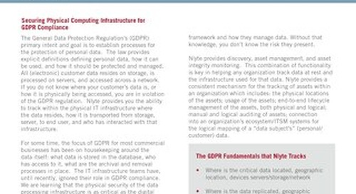 Securing Physical Computing Infrastructure for GDPR Compliance