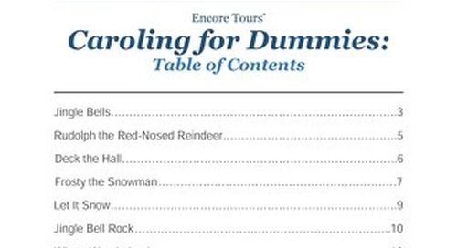 Encore Tours' Caroling for Dummies