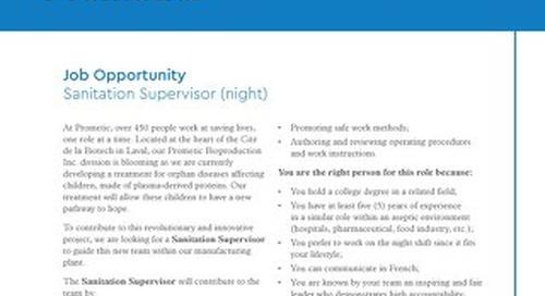 Laval, Ca - Sanitation Supervisor (night)