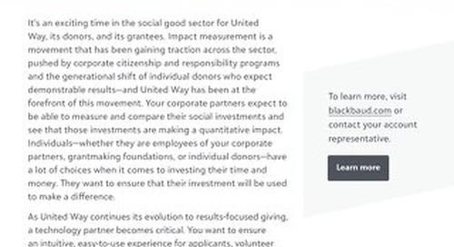 United Way Grantmaking & Impact Reporting