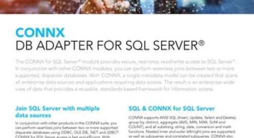 CONNX DB Adapter for SQL Server®