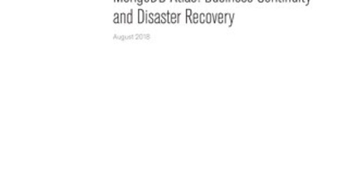 MongoDB Atlas- Business Continuity and Disaster Recovery White Paper (1)