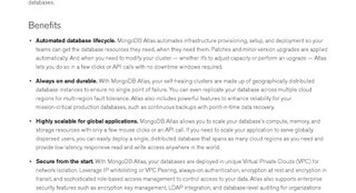 MongoDB Atlas Datasheet