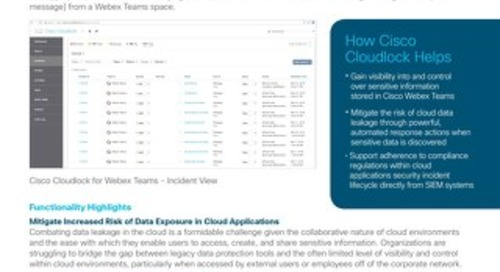 Cloudlock for WebEx Teams
