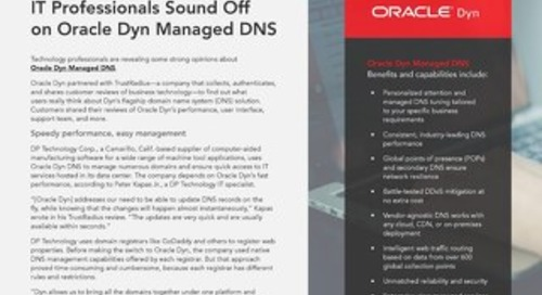IT Pros on Oracle Dyn DNS