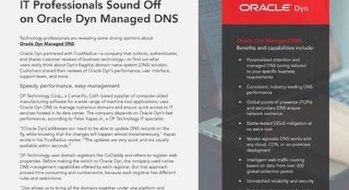 IT Pros on Oracle Dyn DNS