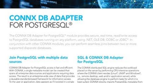 CONNX DB Adapter for PostgreSQL®