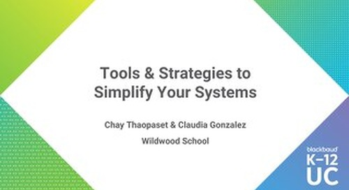 Tools and Strategies to Simplify Your Systems