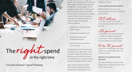 Growth-oriented capital planning