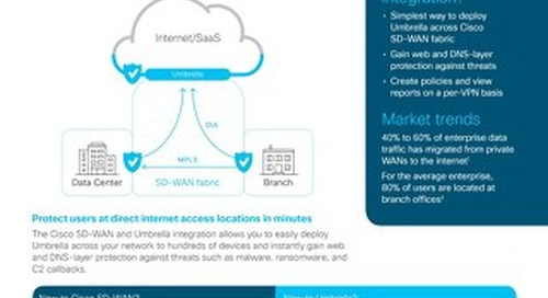 Cisco SD-WAN & Umbrella integration