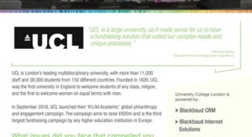 University College London Customer Story