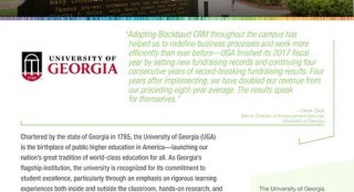 University of Georgia Customer Story