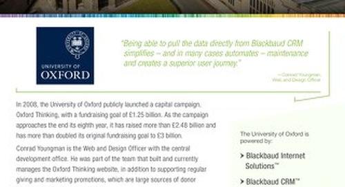 University of Oxford Customer Story