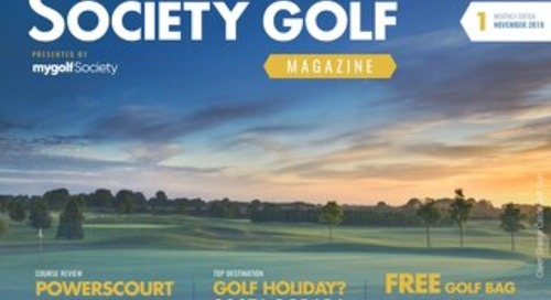 Society Golf Digital Magazine (2019) - Issue 1