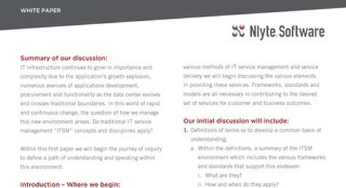 NLYTE ITIL WHITE PAPER 1of3