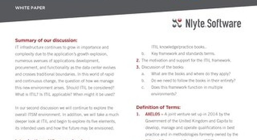 NLYTE INTRODUCTION to ITIL WHITE PAPER 2of3