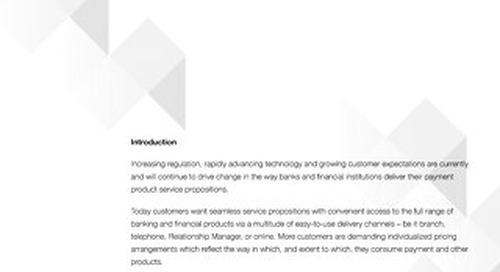 Laying The Foundation For Seamless Relationship-Based Service And Pricing Propositions In Banking