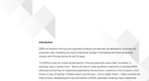 SEPA Creating a New European Payments Landscape