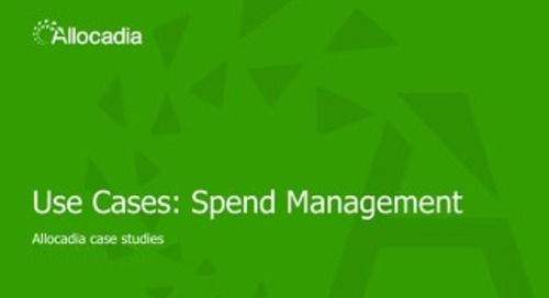 Sales Play 2: Spend Management Use Case