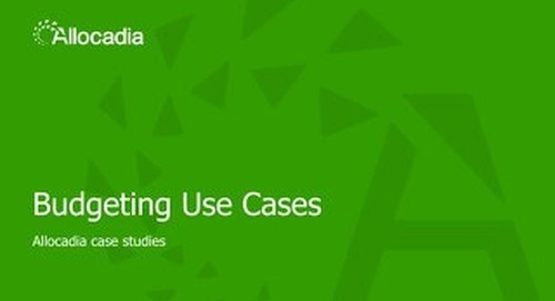Sales Play 1: Budgeting Use Case