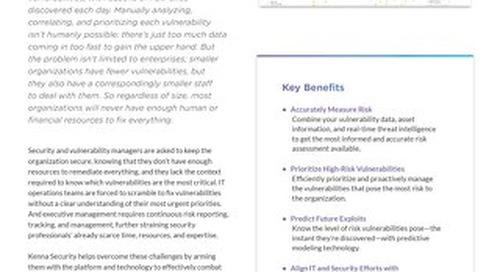 The Kenna Security Platform Data Sheet