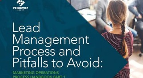 Lead Management Process Marketing Operations eBook