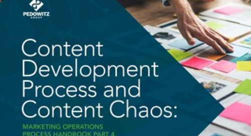 Content Development Process and Content Chaos: Marketing Operations eBook Part 4
