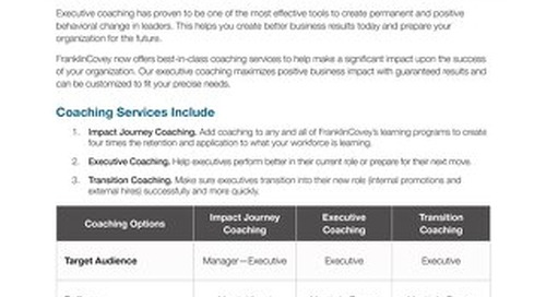 Executive Coaching Overview