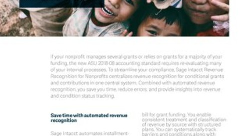 Streamline compliance with ASU 2018-08 revenue recognition standards for nonprofits