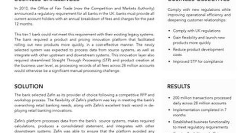 Tier-1 UK bank - Fee transparency