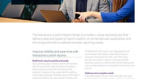 Interactive Custom Report Writer