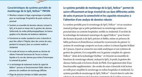 Système portable de monitorage de la SpO2 Nellcor PM10N