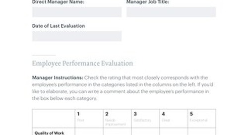Employee Evaluation Form FILLABLE