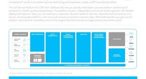 IoT SERVICE PLATFORM FOR CSPs