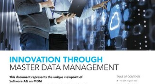Innovation through MDM: Why good data matters to your digital transformation