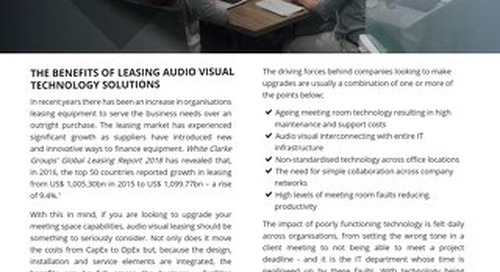 An IT Professional's Guide to Audiovisual Leasing