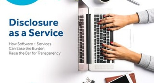How Disclosure as a Service Can Reduce Burden and Raise the Bar for Transparency
