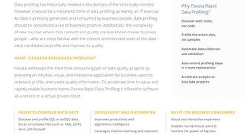 Paxata Rapid Data Profiling Technical Brief