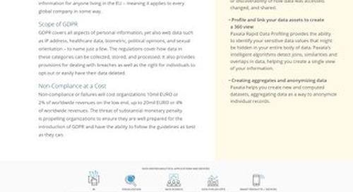 Paxata GDPR Solution Brief