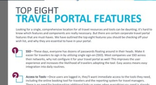 Top 8 MUST HAVE Features in a Corporate Travel Portal