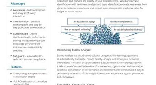 Eureka Analyze Datasheet UK