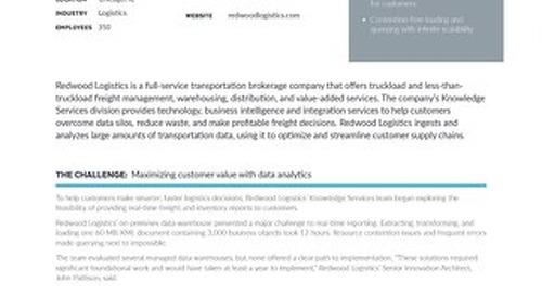 Redwood Logistics: Enabling Data-Driven Logistics with Snowflake