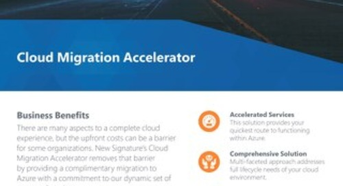 Cloud Migration Accelerator Flyer 2018