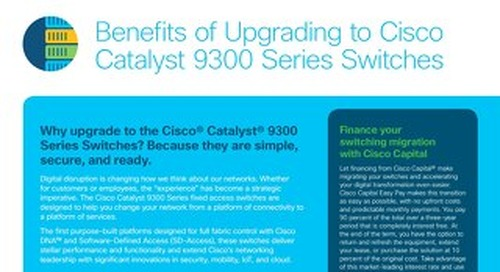 Benefits of Upgrading Cisco Catalyst 9300 Series Switches