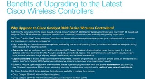 Benefits of Upgrading Cisco Wireless Controllers