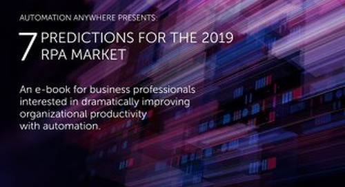 7 Predictions for the 2019 RPA Market