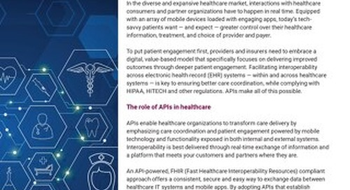 APIs and healthcare. The future will see you now.